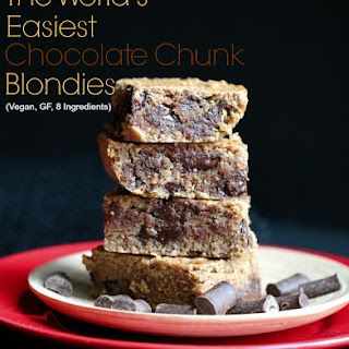The World's Easiest Chocolate Chunk Blondies