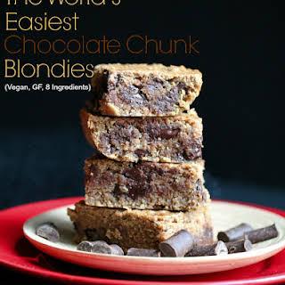 The World's Easiest Chocolate Chunk Blondies.