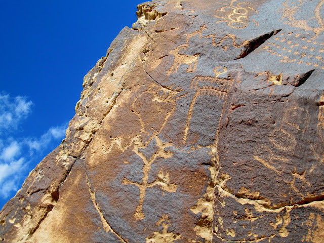 Price River confluence petroglyphs (rotated counterclockwise)