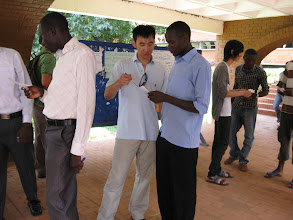 Photo: Surveying students at Makerere University to see who is spiritually interested.