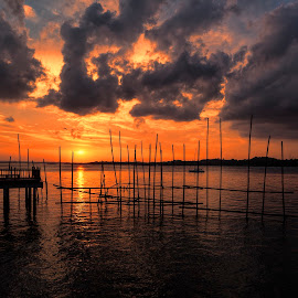 Changi Boardwalk  by Gordon Koh - Landscapes Sunsets & Sunrises