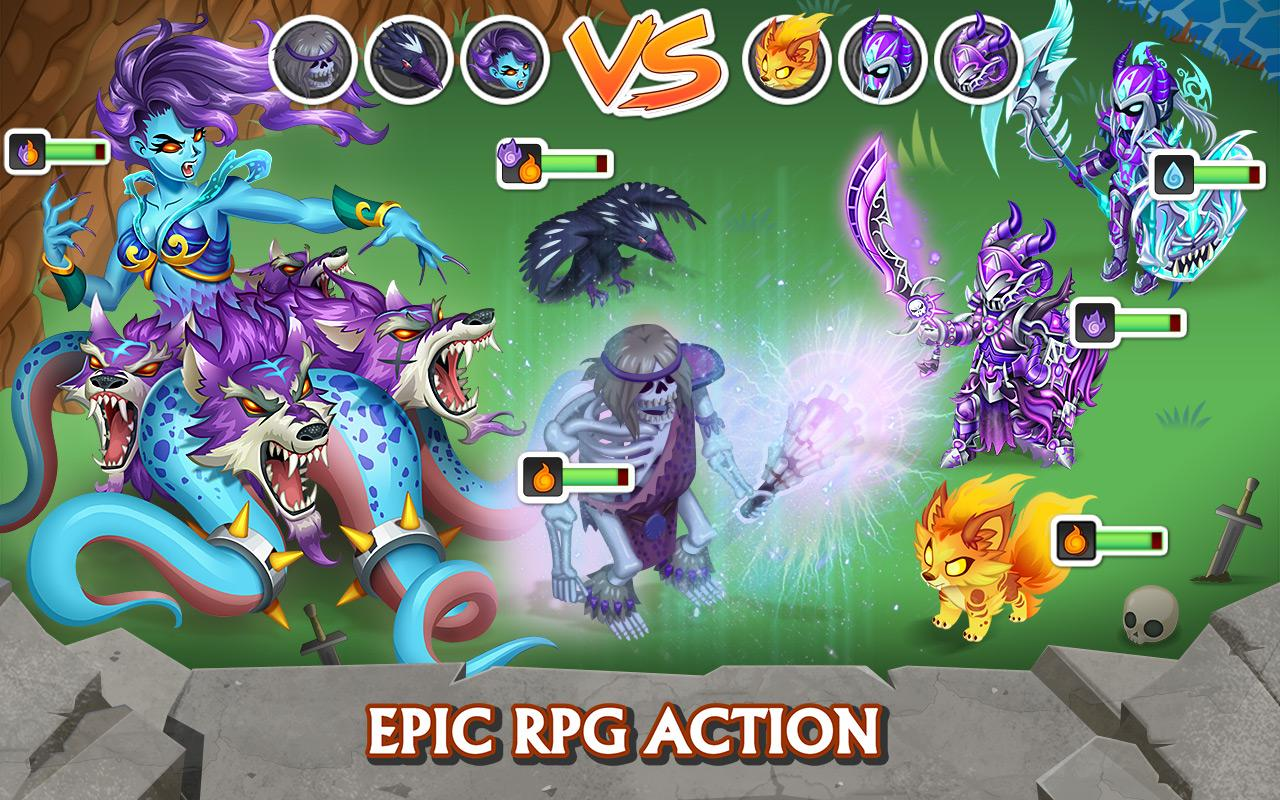 Screenshots of Knights & Dragons - Action RPG for iPhone