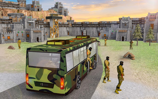 indian army bus driving: military truck mission 1.0 screenshots 6