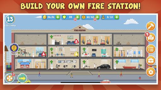Code Triche Fire Inc: Classic fire station tycoon builder game APK MOD (Astuce) screenshots 1