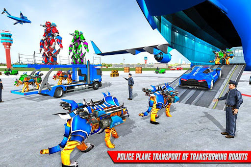 US Police Tiger Robot Game: Police Plane Transport 1.1.2 screenshots 2