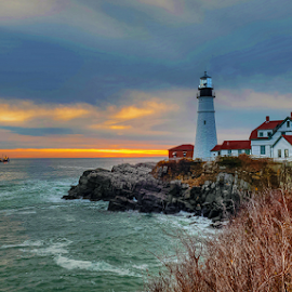 Portland Head Light.... by Ioannis Alexander - City,  Street & Park  Historic Districts ( historic, lighthouse, landscape,  )