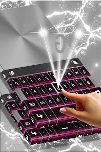 Růžový Chrome klávesnice Téma - náhled