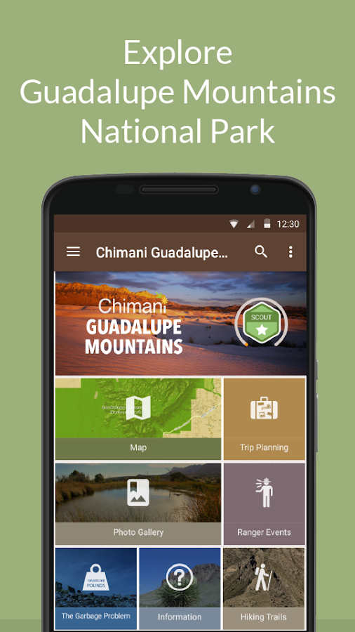 Guadalupe Mountains NP Chimani- screenshot