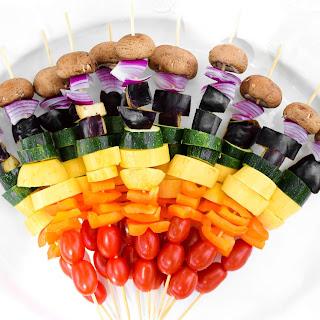 Rainbow Grilled Veggie Kabobs.