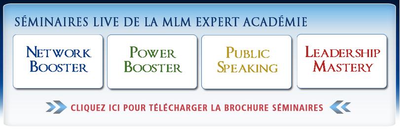 Recevez votre Brochure Séminaire MLM Expert