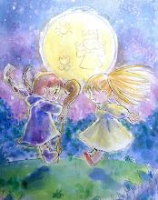 Photo: Usciamo insieme sotto la luna per festeggiare l'ultimo giorno in cui siamo perfettamente in pari con la pubblicazione giapponese! (domani arriva il capitolo 41)