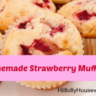 Homemade Strawberry Muffins.