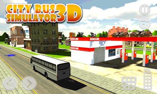 市の公共バスシミュレータ3D