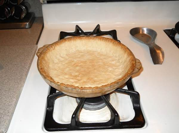 This Is The Cooked Pie Crust Ready To Fill.