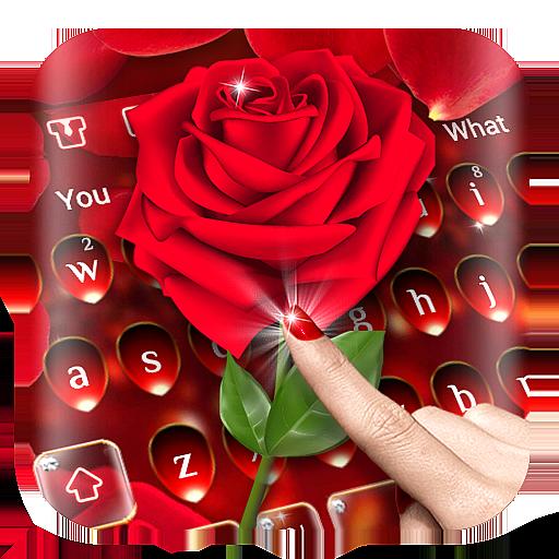 Luxury Red Rose Keyboard