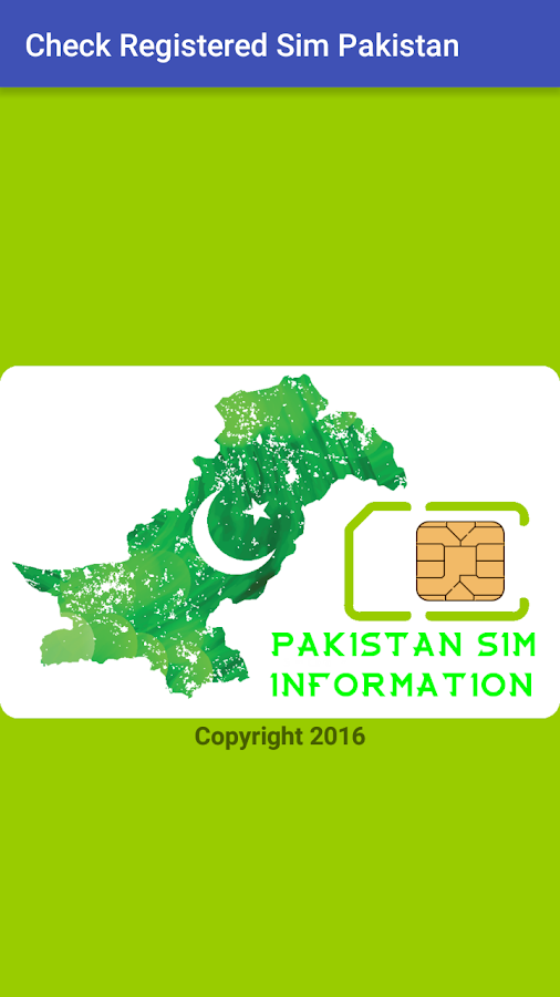 Check Registered Sim Pakistan