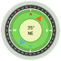 Magnetic compass icon