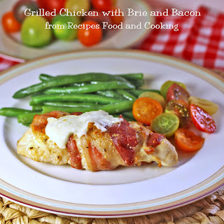 Grilled Chicken with Brie and Bacon.