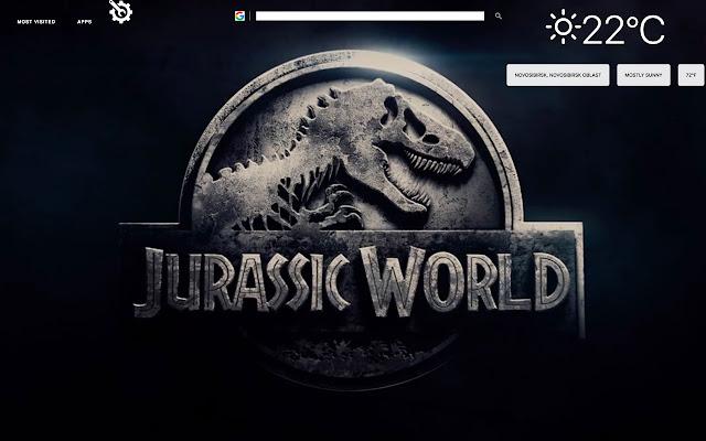 Jurassic Park Newtab Theme