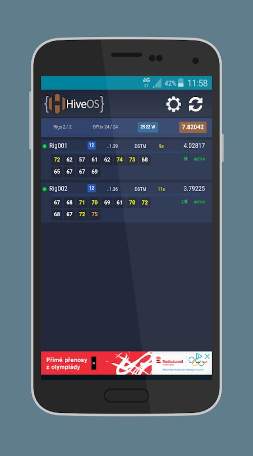 HiveOs - Mining System Monitor