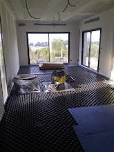 Photo: noppenplaten tbv de vloerverwarming