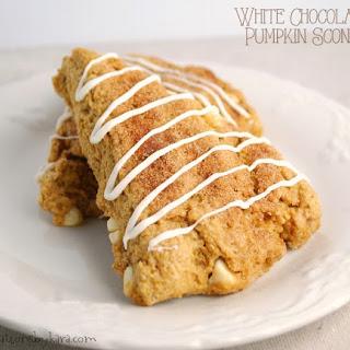White Chocolate Pumpkin Scones