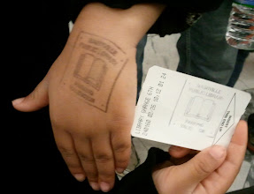 Photo: Kaleya's library hand stamp. Of course the kids all clamor for it!