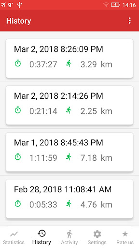 Walking GPS fitness tracker 2.0 screenshots 2