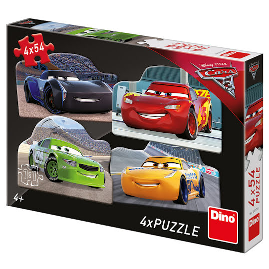 Pussel 4 x 54 - CARS