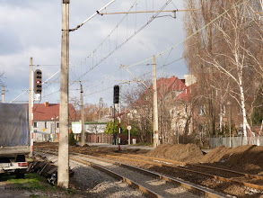 Photo: Przesunięto sygnalizator wjazdowy A 1/2 nieco bliżej stacji