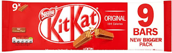 Kitkat Milk Chocolate Biscuit Bar - 9pk