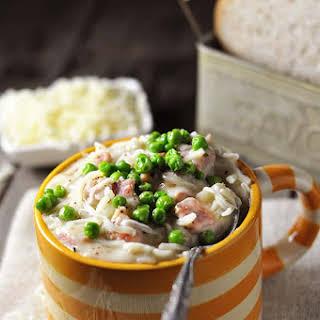 Cheesy Ham and Potato Soup.