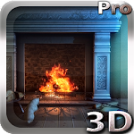 Fireplace 3D Pro lwp Icon