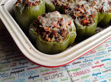 Farro & Turkey Stuffed Peppers Recipe