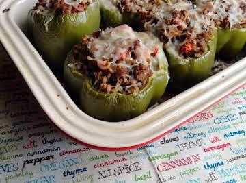 Farro & Turkey Stuffed Peppers
