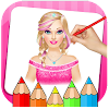 Girls Coloring Book & Drawing Book Game