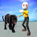 Panther Stickman Rope Hero Shooting Strike icon