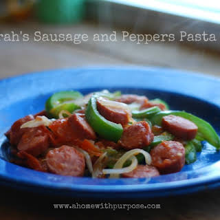 Sarah's Sausage and Peppers Pasta! (S).