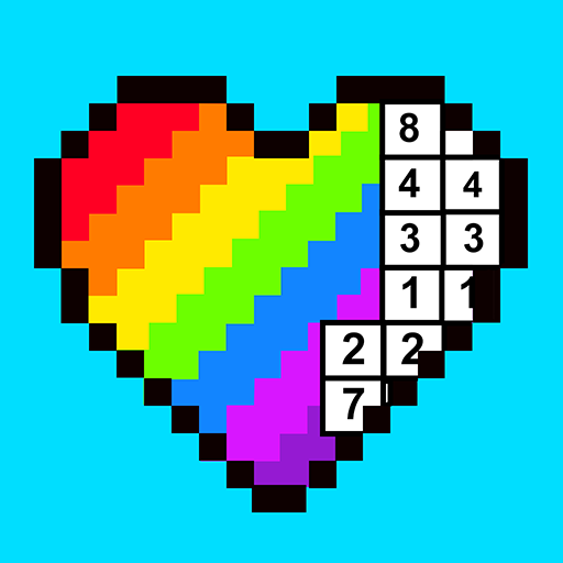RAINBOW Color by Number - 2D & 3D Pixel Art Icon