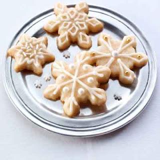 Snowflake Eggnog Cookies