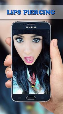 Lips Piercing Photo Montage - screenshot