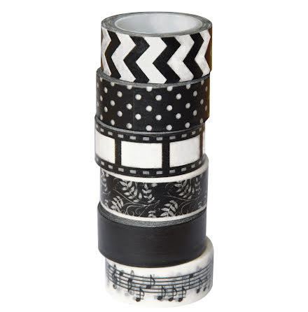 Washitejp svart&vit 5mx6/fp