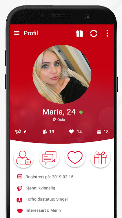 Android App for dating gratis