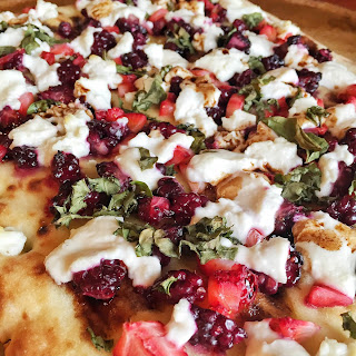 Strawberry, Blackberry, Basil & Goat Cheese Pizza