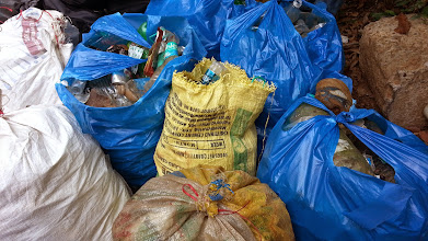 Photo: Plastic waste - 22 bags collected!
