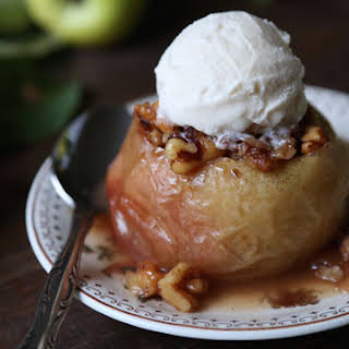 Maple Walnut Stuffed Baked Apples.