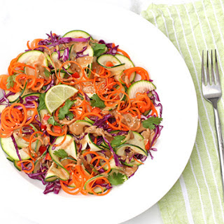 Spiral Thai Slaw Salad {gluten & soy free}.