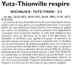 Photo: 20-11-2011 L'ASVB s'impose de justesse à Beaucourt après un premier tie-break gagnant cette saison