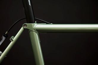 Photo: Fastback seatlug, internal brake routing and stainless rack mounts.