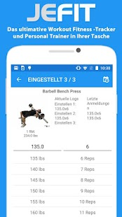 JEFIT Workout Tracker Gym Log Screenshot